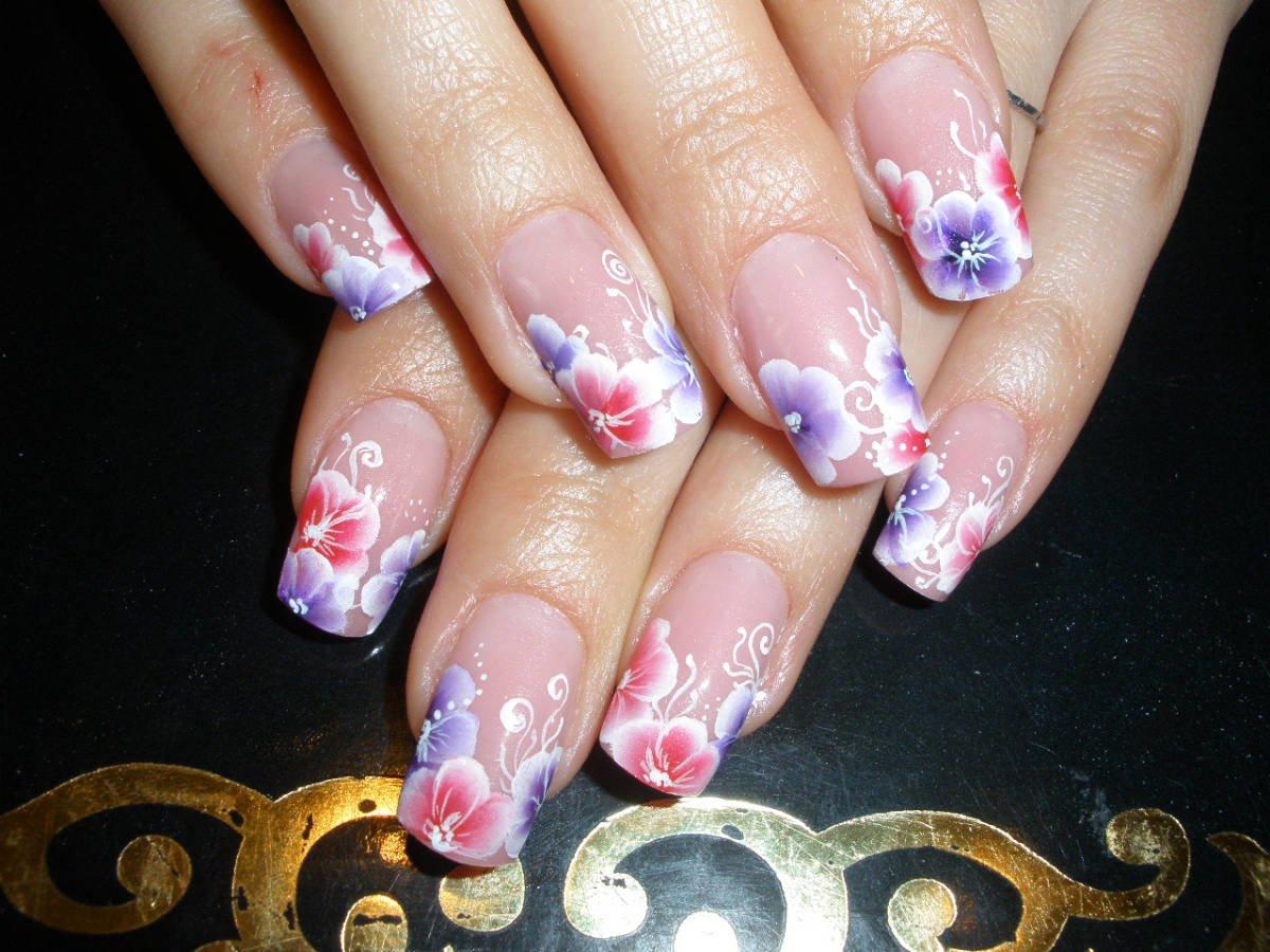 Китайской росписи ногтей фото