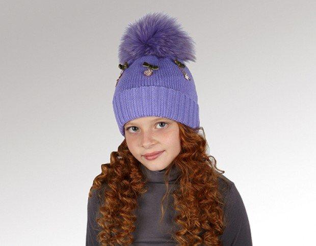 Вязанные шапки для девочек подростков